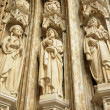 Stock Photo: Entry in Petit Sablon , Eglise Notre-Dame du Sablon church in Brussels