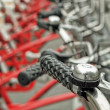 Parked bicycles — Stock Photo #23940671