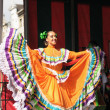 Xochicalli Mexicfolkloric ballet performs in concert on Grand Place — Stock Photo #23943199