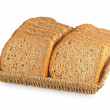 Black whole grain bread sliced for toasts — Stock Photo