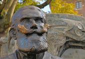 Memorial of Charles Karel Buls, mayor in 1881-1899 on Agora Square — Stock Photo