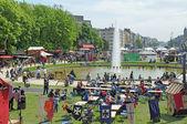 Medieval Market of Etterbeek in parc Cinquantenaire — Stock Photo