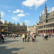 Tourists crowded  Grand Place — Stock Photo