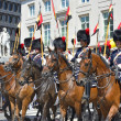 Stock Photo: Belgian Cavalry starts defile to Royal Palace
