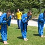 Vietnamese martial arts sportsmen — Stock Photo