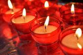 Svíčky v katolické církvi — Stock fotografie