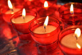 Candles in catholic church — Foto de Stock