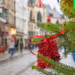 City street in Christmas — Stock Photo