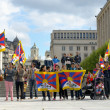 Tibetan Community demonstrate for freedom of Tibet — Stock Photo