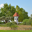 Stock Photo: Small chapel at roundabout