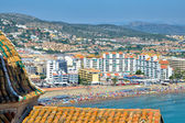 Panorama of Peniscola beach, Spain — Stock Photo