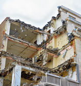 Demolishing of old house — Stock Photo