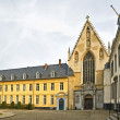 Church and square in Abbey de la Cambre in Brussels, Belgium — Stock Photo