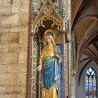 Statue of Mary in Sint-Bartholomeuskerk — Stock Photo