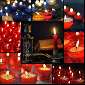 Candles collage — Foto de Stock
