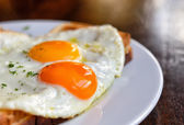 Typical french dish croque-madame — Stock Photo