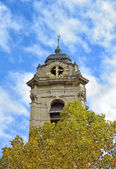 Old tower of church Saint Catherine in Brussels — Foto de Stock