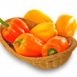 Orange and yellow paprika peppers — Stock Photo #48128761