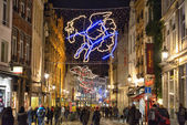 Christmas illumination of historical center in Brussels — Stock Photo