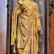 Statue of Saint Barbara in The Saint Nicolas church in Brussels. — Stock Photo