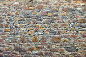 Gray stones of medieval wall in historical center of Huy — Stock Photo