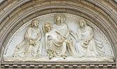 Entry in St.Antonius church in Halle, Belgium — Stockfoto