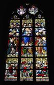 Vitral de la iglesia de saint-martin — Foto de Stock