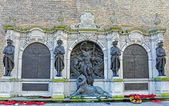 Memorial dedicated to the victims of World War II in Ypres — Stock Photo