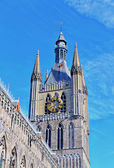 Angle view of Ypres Cloth Hall — Stock Photo