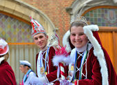Prince and Princess of The Carnival in Halle — Stock Photo