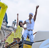 Participants of Gay Pride Parade in Brussels — Stock Photo