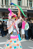 Participant of Gay Pride Parade in annual defile — Stock Photo