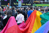 Gay Pride Parade in Brussels — Stock Photo