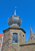 Medieval architecture of historical center of Middelburg — Stock Photo