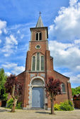 St. Barbe Parish Church in Mazy, Ville de Gembloux, Belgium — Stock Photo