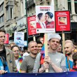 Activists of Gay Pride Parade participate in annual defile. — Stock Photo #51563999