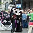 Activists of Gay Pride Parade participate in annual defile in creative costumes.Brussels — Stock Photo #51565419