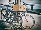 Styled as old photo of vintage bicycles — Stock fotografie
