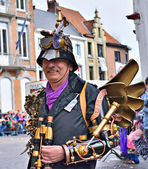 Funcy dressed person at Halle Carnival. Belgium — Stockfoto