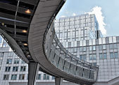 Modern building of the European Parliament in Brussels — Stock Photo