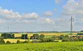 Industrial agricultural landscape of Walloon, Belgium — Stockfoto