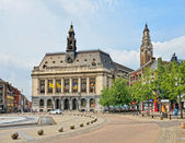 Center of Charleroi and the city hall, Belgium — Stock Photo