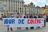 Jour De Colere or Day Of Wrath in Lille — Stock Photo