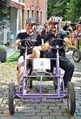 Gocarts race in Halle, Belgium — Stock Photo