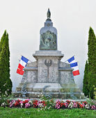 Memorial in Anglure commemorate soldiers 1914-1918 war, France — Stock Photo