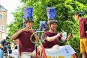 Fifth Gocarts race in historical center of Halle, Belgium — Stock Photo
