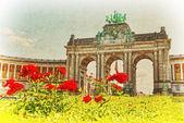 Triumphal Arch in Cinquantenaire Park in Brussels, Belgium — ストック写真