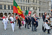 Ceremony of Plantation of Meyboom in Brussels — Stock Photo