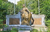Memorial in Koning Albert I Park commemorate Belgian citizens killed in World War of 1914-1918 — Stock Photo