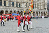 Ceremony of Plantation of Meyboom starts on Grand Place — Stock Photo